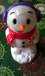 Plastic singing and pooping snowman