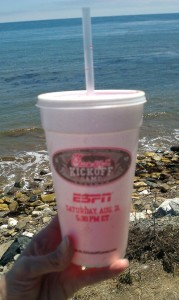 Cup on the beach