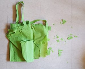 Reusable bag torn